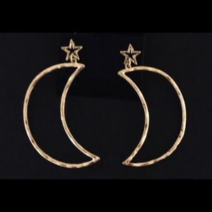 Gold Moon and Stars Earrings